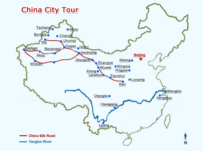 China City Tour Map