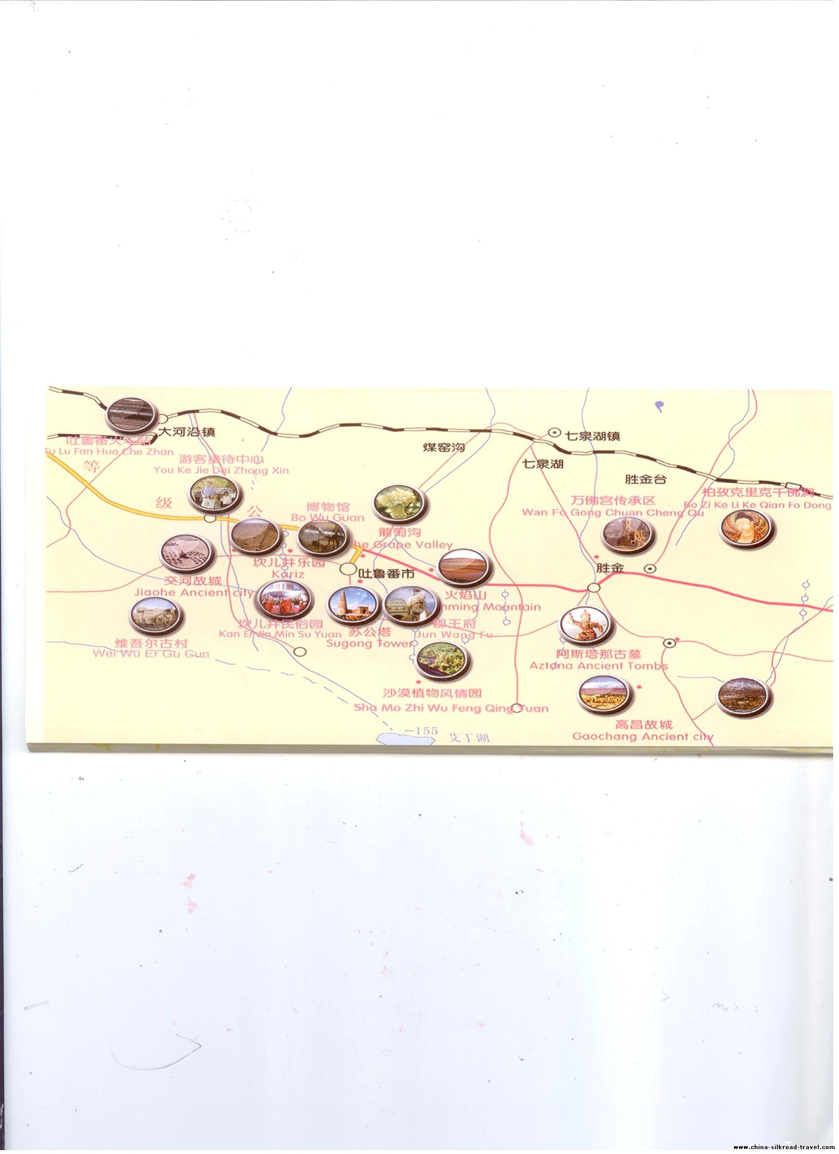 Turpan Tourist Map