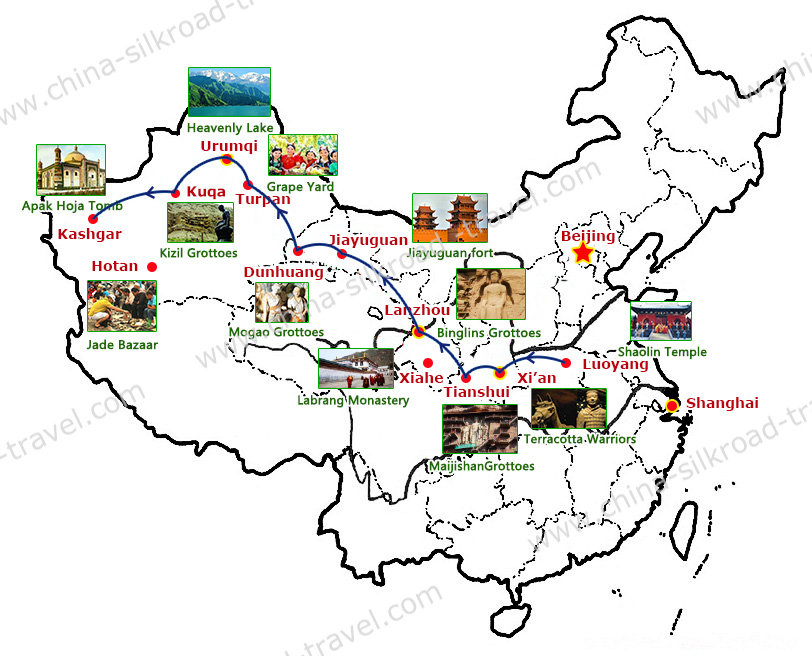 Silk Road Tour Map