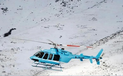 Helicopter Snow